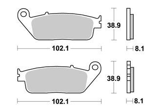 mächtig der welt Vorderer Bremsbelag APRACING SWM Silver Vase I440 2016