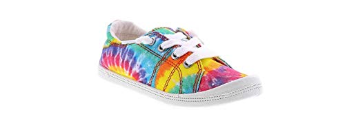 Jellypop Lollie Rainbow Tie Dye Girls' Casual Shoe in Size 1