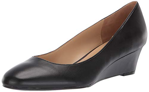 Naturalizer Women's Pilar Pump, Black Leather, 10 M US