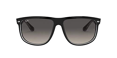 Ray-Ban RB4147 Sonnenbrille, Top black on trasparent/Grey gradient azure