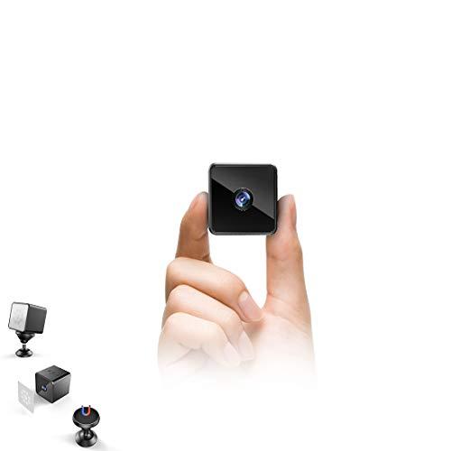 Bluetooth WLAN Mini Kamera, MHDYT HD 1080P WiFi Akku Überwachungskamera, Kleine Nanny Cam mit Bewegungsmelder, Infrarot Nachtsicht und Bluetooth Lautsprecher,Mikro Wireless Innen/Aussen IP Kamera