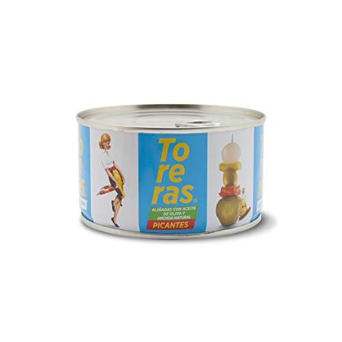 Banderillas Toreras picantes aliñadas con anchoa natural y aceite de oliva. Pack...
