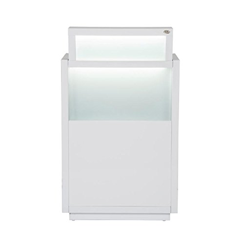 Beauty Salon Reception Desk All Purpose Reception Desk Reception Counter with Illumination Lights - Orsacchiotto -White