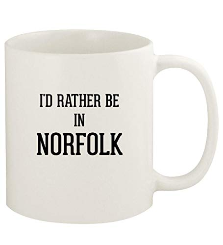 I'd Rather Be In NORFOLK - 11oz Ceramic White Coffee Mug Cup, White