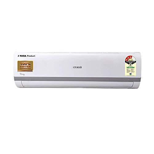CROMA Copper 3 Star Split Inverter AC with Installation (1 Ton, CRAC7556, White)