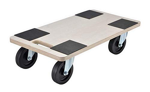 Unibos 400kg Heavy Duty Anti Slip Hand Dolly Trolley Cart Furniture Moving Wooden Platform Mover
