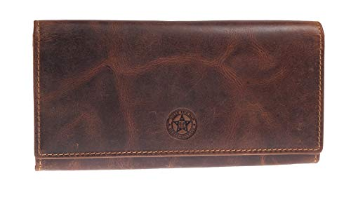 Greenburry Vintage Damen Geldbörse Braun 19,5x10,5x3cm Portemonnaie Geldbeutel