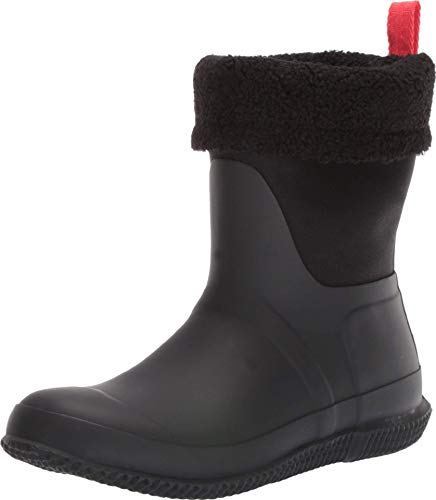 Hunter Women's Original roll top Sherpa Boot Rain, Black, 3 UK