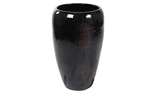 Mystic metal vaas | 89 cm hoog | Zwart