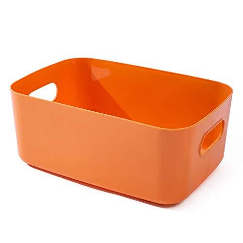 MIGUOR Cesta de ordenació Multiusos PVC Cesta de almacenamiento de juguetes de escritorio para Ropa o Juguetes 20×14.7×7cm naranja