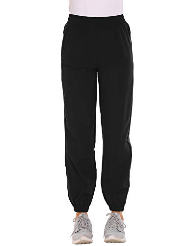 Hiking Pants Quick Drying Outdoor Lightweight Travel Cargo Pants Black Large
