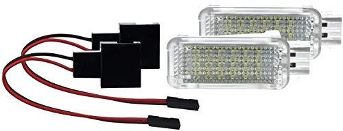 2 X Fußraumbeleuchtung LED SMD Modul Weiß für Golf 56 7 Polo 6R 6C Leon A1A3 A4 B6 A4 B7 A4 B8 A5A6 C6 A6 C7 A7 A8 4E