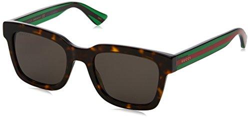 Gucci GG0001S 003 Occhiali da sole, Marrone (Avana/Grey), 52 Uomo