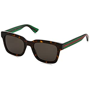 Fashion Shopping Gucci Fashion Sunglasses, 52/21/145, Avana / Grey / Green