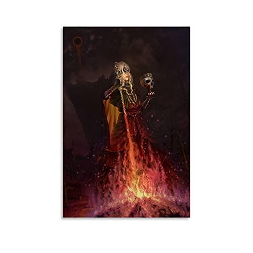 Poster de jeu Dark Souls - 3 affiches décoratives sur toile - Art mural pour salon, chambre à coucher - 60 x 90 cm