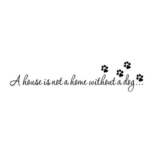 WINOMO Wandaufkleber mit Sprüchen Hund Wandtattoo Wandsticker für Wohnzimmer Schlafzimmer