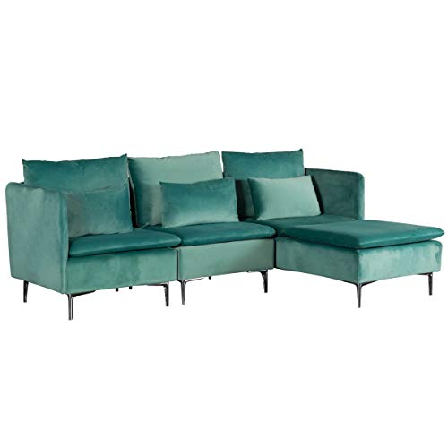 TITLE_MELLCOM Convertible Sectional Sofa Couch
