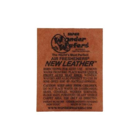 Wonder Wafers 10 CT Individually Wrapped Air Fresheners New Leather