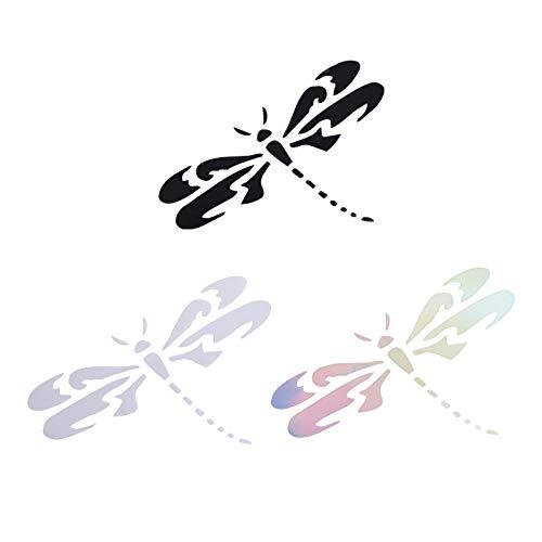 SUPERFINDINGS 6 Uds Vinilo Decorativo libélula Blanco Sticker de Carro para Coches...