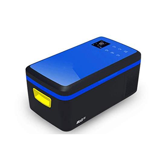Tunbg Draagbare koelbox voor in de auto en thuis, met blauwe compressor, mini-vriescombinatie voor bediening, reizen, vissen, gebruik buitenshuis en thuis – 12 V/24 V (DC) en 110 V-220 V (AC)
