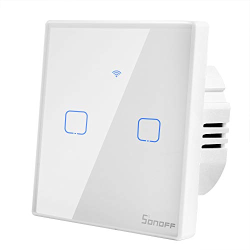 Sonoff T1 Smart Switch WiFi Interruptor de Luz de Pared 2 Gang...
