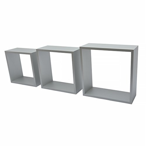 Duraline 3TC Dekoratives Wandregal, MDF, Aluminium, 30 x 12 x 30 cm