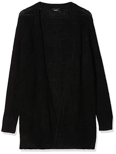Object Damen Objnete L/S Knit Cardigan Noos Strickjacke, Black, XL EU