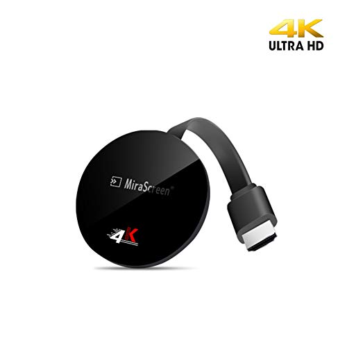 4K HDMI Adapter WiFi Display Dongle, MiraScreen 5G/2.4G Wireless Miracast Dongle Streaming TV Stick für Android / iOS / Windows, Unterstützung für Google Home App und Chrome Mirroring