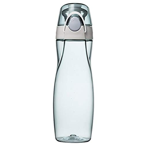 Xiaodou Outdoor Sportflasche aus Kunststoff tragbarer Sport Cup, Cup, Raum Cup, Tritan Material, Fitness, Reisen Cup, 500ML Versiegelt Auslaufsicher Wasserflasche (Color : Blue)