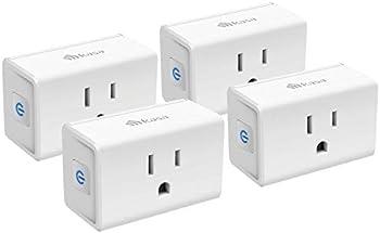 4-Pack Kasa Mini 15A Smart Plug Wi-Fi Outlet Works with Alexa