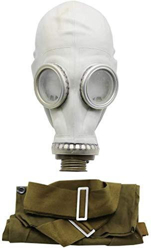 OldShop Gasmaske GP5 Set - Sowjetische Militär Gasmaske Replica Sammlerstück Set W/ Maske, Tasche, Filter - authentischer Look & Verschiedene Größen erhältlich Farbe: Grau | Größe: L