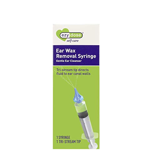 Ezy Dose Ear and Ear Wax Cleaner for Humans | Syringe with Tri-Stream Tip | Safe and Antibacterial