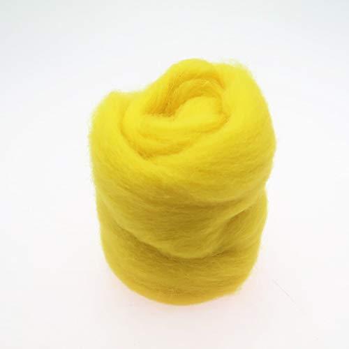Qitao Wollfilz 86 Farben 5g / 10g / 20g / 50g / 100g Filzwolle-Filz Stoff Filz Craft Spielzeug Filzwolle Handgemachte Filzen Craft (Color : 27, Size : 100g)