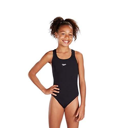 Speedo Essential Endurance Plus Medallist, Costume Bambina, Nero (Black), 11-12 Anni