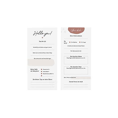 """JO & JUDY Baby Party Karten""""Baby Shower"""" - Süße Karten mit Kommentaren und Wünschen für ein Neugeborenes - 21 x 10 cm - 20 Stück"""