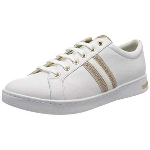 Geox D Jaysen A, Scarpe da Ginnastica Basse Donna, Bianco (White/Rose Gold C1Zh8), 35 EU