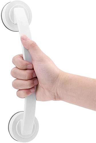 VEESYV Barras de agarre antideslizantes para ducha de baño, con ventosa de seguridad, mango portátil con ventosa superfuerte para ducha, ventana, puerta y cajón (color: blanco)