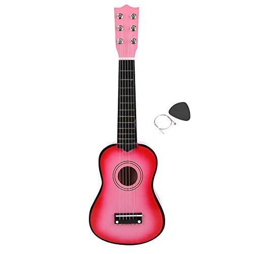 Kinder Spielzeug Gitarre, 6 Saiten Kindergitarre Kinder E-Gitarre mit Licht & Sound E-Gitarre Lernspielzeug Musikinstrument Kinder Gitarre Rock Gitarre Spielzeug für Kinder Anfänger 21 Zoll(Rosa)