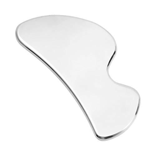 DOITOOL Gua Sha - Placa de masaje para raspado, acero inoxidable, placa de masaje para terapia física para promover la circulación sanguínea