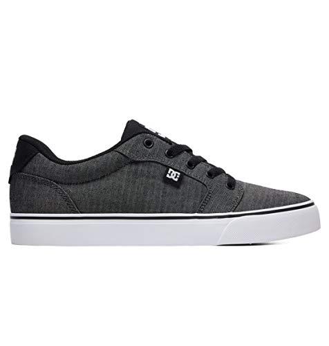 DC Men's Anvil TX SE Skate Shoe, Black Resin, 9.5 M US