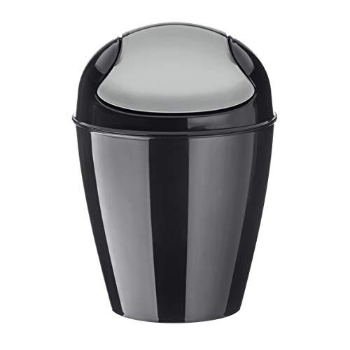 Koziol Papelera con Tapa basculante, 30 l, XL, de plástico, Negro, XX-Small
