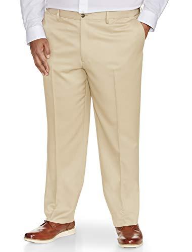 Amazon Essentials Men's Classic-fit Wrinkle-Resistant Flat-Front Dress Pant, Stone, 48W x 28L