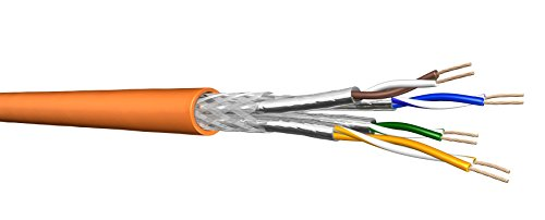 Draka Cat 7 Verlegekabel UC900 HS23 S/FTP PiMF, 100m Ring , geschirmtes Installationskabel , highquality Schirmung , orange , Cat7, 1000 MHz , AWG 23/1
