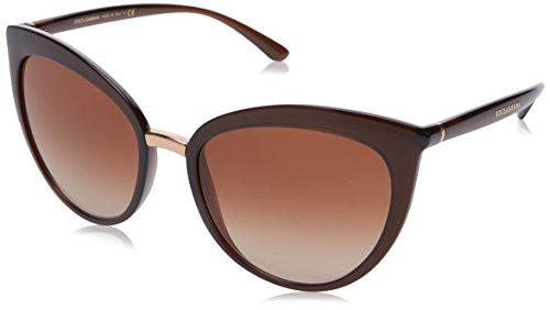 Dolce & Gabbana Damen 0DG6113 315913 55 Sonnenbrille, Braun (Transparent Brown/Browngradient)