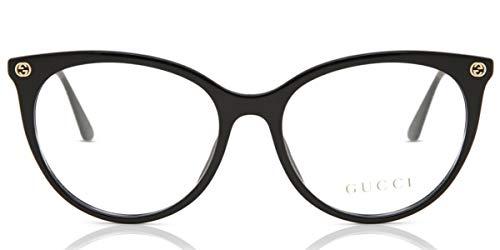 Gucci Unisex – Erwachsene GG00930-001-53 Brillengestell, Glänzend Schwarz, 53