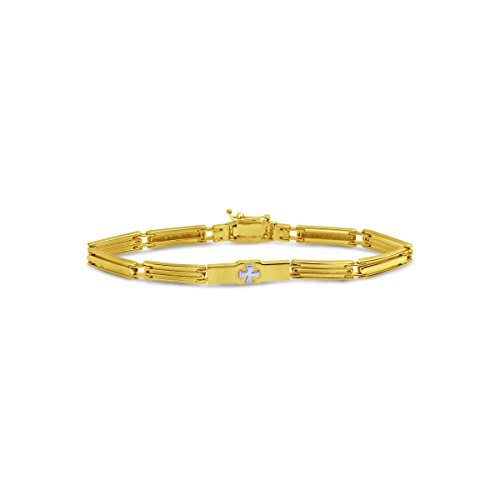 Armband Gold 585 Massiv Gelbgold 14K Herren Goldarmband Arm-kette 20cm 5,2 mm