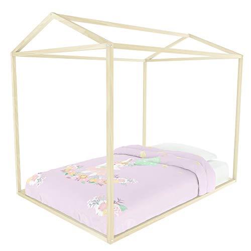 Kit Mobiliario Casa de Sueños Matrimonial Montessori Infantil Estructura para Cama Matrimonial Moderna