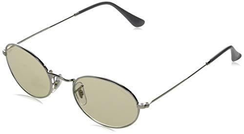 Ray-Ban Oval Gafas, PLATA, 54 Unisex Adulto