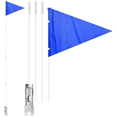 2 Pcs Banderín de Bicicleta 150 cm Seguridad Bandera para Bicicleta, Bandera de Seguridad para Bicicleta Infantil, Remolque de Bicicleta de Alta Visibilidad