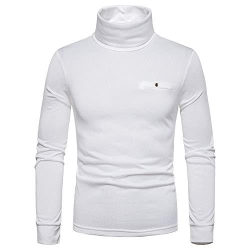 Herren Rollkragen Langarmshirt Slim Fit Pullover Thermohemd Warm T-Shirt Weiche...